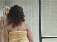 Catfight in the womens prison shower, upscaled to 4K