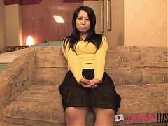 Cheating Japanese Housewife Gets POV Hotel Creampie